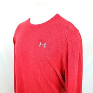 Under Armour UA Mens Thermal Shirt Sz Large Red